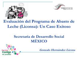 Evaluación del Programa de Abasto de Leche (Liconsa)
