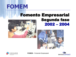 FOMEM - Value Chains