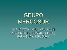 situacion del empleo en argentina, brasil, chile