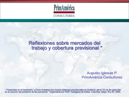 """""""Mercados del Trabajo y Cobertura Previsional"""" - A.Iglesias"""
