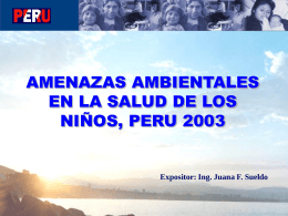 Juana F. Sueldo, Ministerio de Salud del Perú