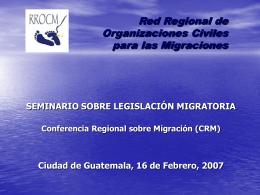 Legislación Migratoria en Centroamérica