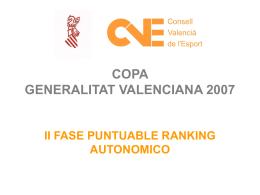 COPA GENERALITAT VALENCIANA 2007