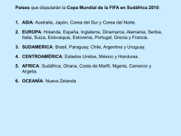 Copa Mundial de la FIFA en Sudáfrica 2010