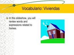 Vocabulario, Lección 12