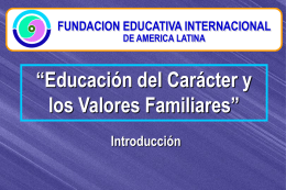 Introduccion - fundacion educativa internacional de america latina