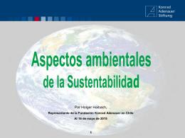 Presentación Sustentabilidad 2015 – Holger Haibach KAS