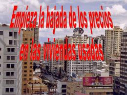 Comienza a bajar el precio de viviendas usadas en Murcia.