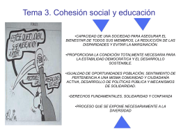 Tema 3. Cohesión social y educación