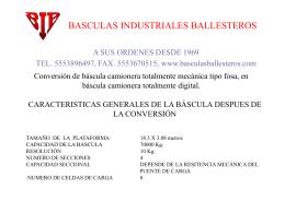 Sin título de diapositiva - Básculas Industriales Ballesteros SA de CV