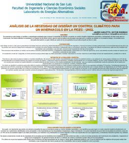 Poster Control Climático para un Invernáculo - FICA