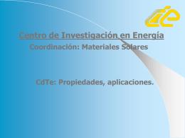 posterCdTe - Proyecto de Energía Renovable