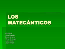 LOS MATECANTICOS powerpoint - redes profesionales del cep