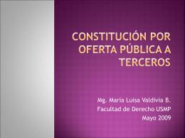 constitución por oferta pública a terceros