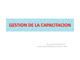 GESTION DE LA CAPACITACION