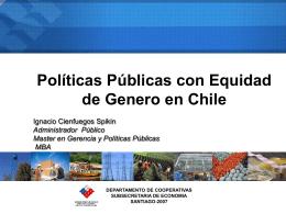 Políticas Públicas con Equidad de Género en Chile