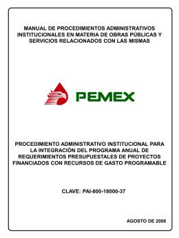 procedimiento administrativo institucional para la integración del
