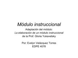 Módulo instruccional