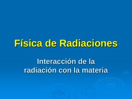 Física de Radiaciones