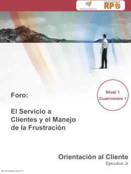 RPO2-1IN01.El Servicio a Clientes y el Manejo de la