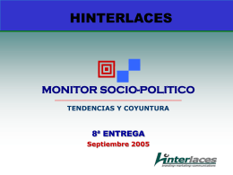 8º MONITOR SOCIO-POLITICO HINTERLACES