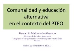 comun. educ. alternat. dr. benjamin m.