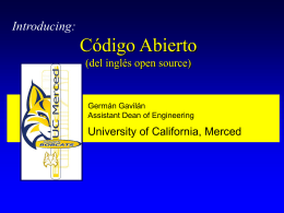 No Slide Title - University of California, Merced
