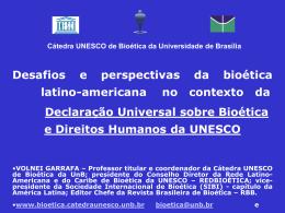 Universidade de Brasília Cátedra da Unesco de Bioética