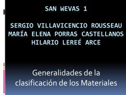 Clasificación de los materiales, estructuras cristalinas y sus
