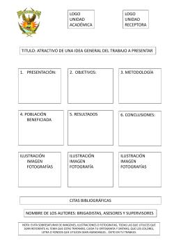 8) Formato de Cartel – Ejemplo 1