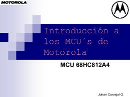 Introducción a los MCU´s de Motorola