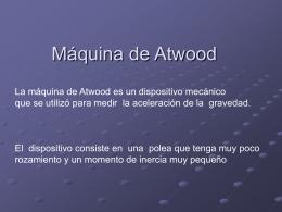 Máquina de Atwood