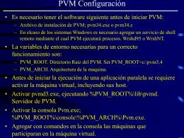 Configuración de PVM