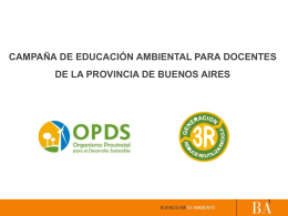 Presentación (archivo ). - Organismo Provincial para el