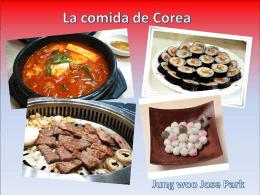 La comida de Corea