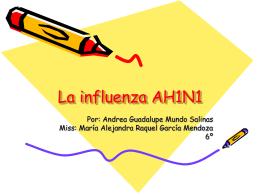La influenza AH1N1 - Instituto Pedagógico Emmanuel Kant
