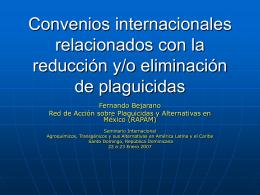 Convenios internacionales relacionados con la reducción