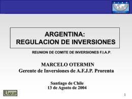 Argentina -Otermin - (FIAP) Federación Internacional de
