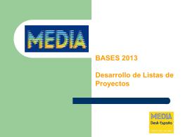 Desarrollo Lista de Proyectos