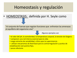 homeostasis y regulacion