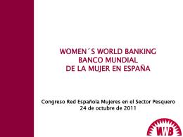 Inger Berggren Garnacho. Presidenta del Banco Mundial de la Mujer