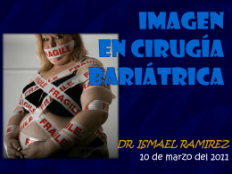 IMAGEN EN CIRUGÍA BARIÁTRICA