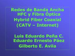 Redes de Banda Ancha - Presentación HFC Fibra Optica