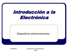 Introducción a la Electrónica