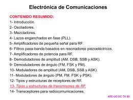 13- Tipos y estructuras de transmisores de RF.