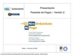 Presentación Ayuntamientos de Bizkaia (10/07/2008)