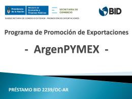 Programa de Promoción de Exportaciones