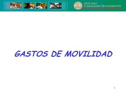 gasto de movilidad - Informativo Caballero Bustamante