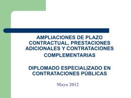 Ampliación de plazo contractual – Procedimiento (II)