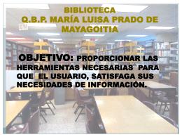 Biblioteca y Actividades Culturales